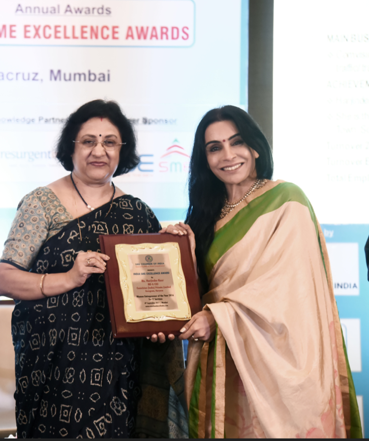 "Congratulations To Harjinder Kaur Who Received The Award, ""Woman Entrepreneur Of The Year"" Presented 2017 In Mumbai"